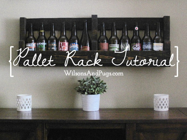 Pallet Beer Wine Rack from WilsonsAndPugs.com