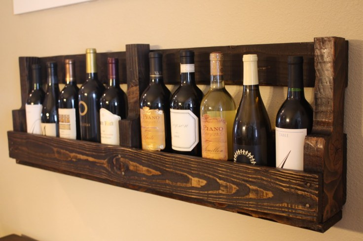 Pallet Wine Beer Rack from WilsonsandPugs.com